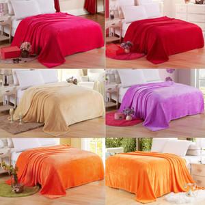 Super Soft Warm Micro Plush Fleece Wool Blanket Throw Fuzzy Rug Winter Luxury Plush Microfiber Fabric Sofa Bedding Towel hot