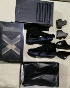 Колпачок И платье Blackout 11s выпускной вечер 11 Real углеродного волокна Top Qaulity Gym Red Гамма синий Полночь Navy Баскетбольная обувь Concord 11 с коробкой