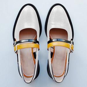 SWYIVY Kadınlar Sandalet Yaz 2019 Vintage Toka Kayış Siyah Bayan Günlük Ayakkabılar Blok Topuk Ayakkabı Kadın Sandalet Artı boyutu 34-43 Y200620
