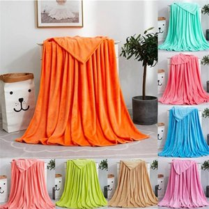 1pc Flannel Blanket Solid Soft Living Room Bedroom Air Conditioning Bed Blankets for Sofa Bedding Sleeping Cover Bedding Throws