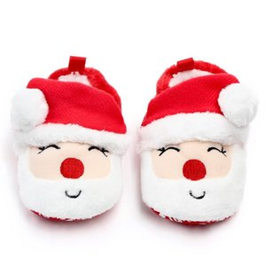 TELOTUNY Newborn Kid Christmas Cartoon First Walkers shoes Non-slip Soft Sole Boot shoe baby canvas shoes Soft Sole ZN19