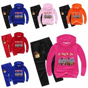 New autumn Roblox tracksuit children's clothing set Costume children clothes Cotton Sport Suit For Baby Boys