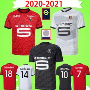 20 21 Rennes Soccer Jersey 2020 2021 Raphinha Niang Terrier Stade Rennais FC BOURIGEAUD قمصان كرة القدم CASTILLO RAPHINHA Maillot de foot