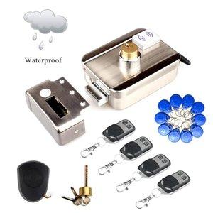 Anahtar İçin Outdoor ile Su geçirmez Kablosuz Uzaktan Kumanda Elektrik Motorlu Kilit 125KHz ID EM Kilit kullanılan