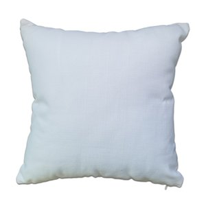 Pure White Blank Polyester Pillow Cover 16x16 Poly-Linen Cushion Cover Plain Poly Pillow Case for Sublimation