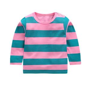 New Spring-Jungen-Mädchen-Karikatur-Baumwoll T Shirts Kinder T-Shirts Jungen-Mädchen-Langarm-T-Shirts für Kinder Tops Marke Baby-Kleidung 12M-8Y
