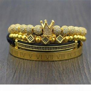 3pcs set+Roman Numeral Bracelets Steel Couple Bangle Crown Charm for Love Vintage Bracelets for Women Men Jewelry Christmas Gift