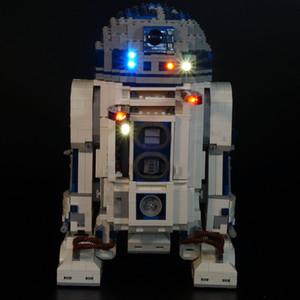 LED ışık kiti 10225 ve 05043 için (dahil sadece hafif kiti) - Model Yapı blokları (robot dahil değildir) LJ200925