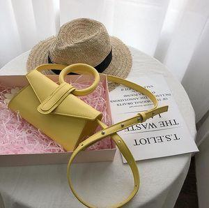 Moda feminina Shoulder Bags Anel Crossbody Senhora Plain Hansbags pequeno Candy Girl cores Saco do presente