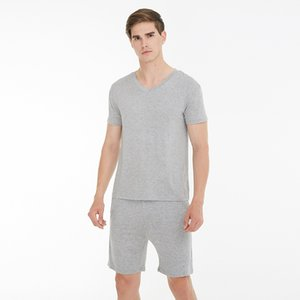 Summer men's pajamas modal V-neck short-sleeved shorts casual home suit outdoor home wear