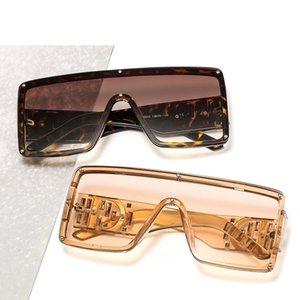 d decorativa Integrated Lens Uma peça Sun Glasses grande frame All-jogo diamante incrustado resistente aos raios UV dos óculos de sol 6933