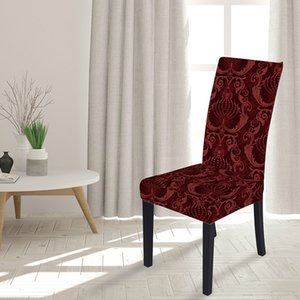 Chair Cover online European style 3D Digital Print slipcover decorative pattern Polyester Fabric Chair Covers for Dining Room