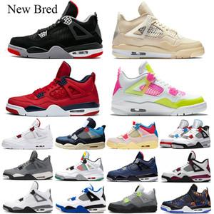 4 4s De archivo X 4 4s hombres zapatos de baloncesto Bred Red Metallic Cavs Negro-cat 4AirJordánRetro para hombre formadores de diseño Sport zapatillas  deporte 7-13