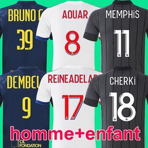 20 21 maillot de football Olympique Lyonnais lyon 2020 2021 maillot de football lyon FC MEMPHIS AOUAR CHERKI DEMBELE REINE-ADELAIDE BRUNO G. TERRIER soccer jersey