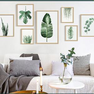 Зеленый завод цифровой живописи в современном стиле рисунок обрамленная картина моды Art Окрашенный отель Sofa украшения стены Draw DBC DH1496-1