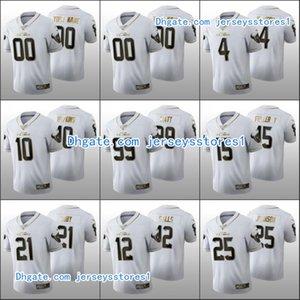 هيوستنتكساسالرجال # 99 J.J. واط 4 ديشاون واتسون 15 ويل فولر V شباب المرأة مخصصالطبعة NFL الأبيض الذهبي لكرة القدم الفانيلة