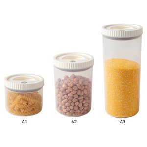1PC Plastic Storage Kitchen Container Grain Snack Box Sealed Coffee Sugar Storage Tank Plastic Japan Style 2
