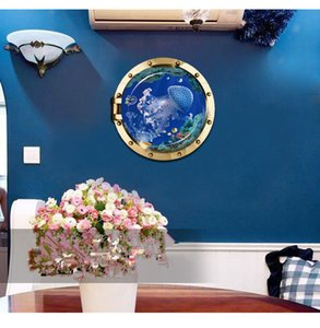 New 3D effect window decoration painting submarine series home decoration wall stickers children room study decoration painting