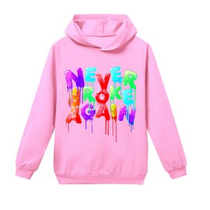 Youngboy Letters Printed Boys and Girls Casual Fashion Hoodie Cotton Newest Hip-hop Style Hooded Sweatshirt Tops 0915