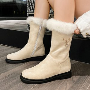 Warm Fur Plush Ankle Boots Women New Fashion Winter Snow Boots Casual Shoes Women Short Footwear Large Size 46 ZOGEER