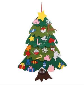 Новогоднее украшение Xmas Tree Войлок Детский DIY Christmas Party Реквизит Дети ручной работы Статья Рождественская елка мультфильм Felt 70 * 100см D91402