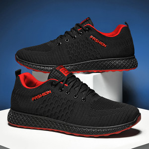 Fashion sneakers flying woven breathable running shoes soft sole comfortable casual shoes