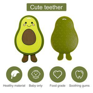 Baby Silicone Teether Cartoon Avocado Food Grade Silicone Pandents DIY Teething Toys for Teeth Tiny Rod Baby Teethers Gift