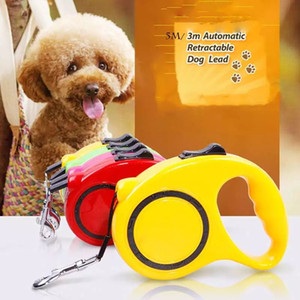 Rétractable Dog Leash automatique flexible Dog Leash Pet marche Leads Pulling plomb Dog Leash verrouillage formation bande corde Pet Supplies HHB1807