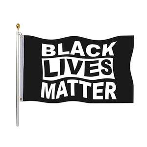 Vidas negro Bandera Materia 90 * 150cm Flag Pared indicador de la bandera del jardín Por demócratas cubierta exterior no puedo respirar Justicia Movimiento HHB1792