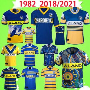 1982 2021 Parramatta Eels Rugby League Jersey Ndigenous Versione Nine System Shorts 20/21 Hero Souvenir Edition Retro Classic Vintage T Shirt