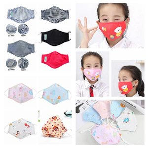 Kids Cartoon Face Mask Anti Dust Zipper Masks With 2pcs Filter Breathing Face Cover Reusable Washable Masks Protective Mask In Stock DHD692