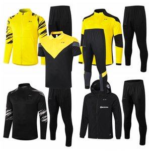 Survetement Tracksuits 2018 2019 2020 2021 Borussia Soccer Sets Home Away Dortmund Tracksuit Hoodies Training Football Chaqueta Juego