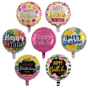 Nicrolandee 18 inch Round Letters HAPPY BIRTHDAY Foil Balloons Party Decoration Kids Alphabet Air Baby Shower Supplies
