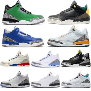 nike air jordan retro 3 3s Hommes pas cher Chaussures de basket Jumpman Cour Violet Rouge Feu Laser orange Varsity royal JTH NRG Tinker hommes Baskets Sneakers Sport 40-47