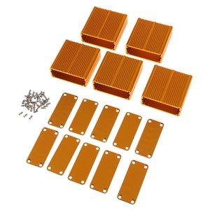 5pcs de aluminio extruido recinto de PCB de refrigeración caja de la caja de bricolaje