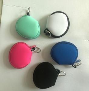 Nuovo neoprene piccola borsa della moneta della borsa della moneta di Face Porta Maschera per il trasduttore auricolare Borse borsa del cambiamento del sacchetto della moneta con portachiavi SN4675