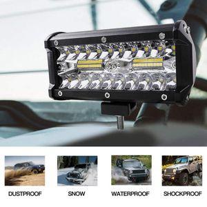 7 인치 120w 슈퍼 밝은 LED 라이트 바 스팟 홍수 콤보 LED 조명 운전 조명 방수 일 안개 트럭