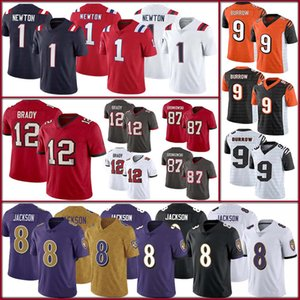 Nouvelle-AngleterrePatriot 1 Cam Newton BaltimoreRaven 8 Lamar JacksonBuccaneer 12 Tom BradyBengale 9 Joe maillots de football tanière