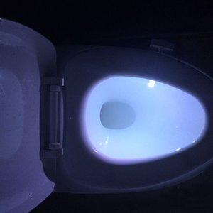 New Products Human Motion Sensor Passive Infrared Light Sensor Toilet D Light Bowl Bathroom LED Night Active Motion Light