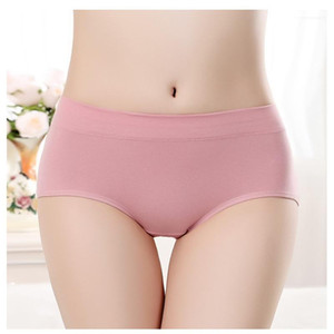 Clothing Womens Designer Pure Color Briefs Everyday Middle Waisted Underwear Casual Comfortable Cotton Underclothes Fashion Females