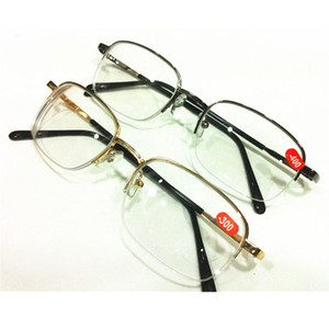 Altın Gri Unisex Metal Yarım Çerçeve Okuma Miyop Gözlük Diyoptri -1,00 -1,50 -2,00 -2,50 -3,00 -3,50 -4,00 Ücretsiz Kargo A1
