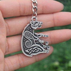 Nordic Viking Bear Keychain Slavic God Symbol Amulet Jewelry Car Gift Souvenirs