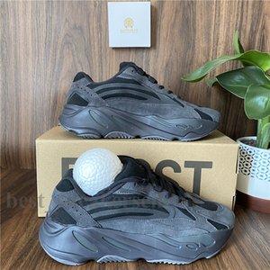 2021 los zapatos corrientes de Kanye West 700 corredor de la onda Hombres Mujeres Sport zapatillas de corredor de la onda inercia Tefra imán Utilidad Negro malva Des Chaussures