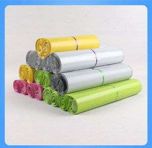 Plastic Poly Self-seal Self Adhesive Express Shipping Bag Courier Post Postal Mailer Bags White Green Yellow Pink 1000pcs Free shipping