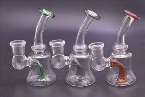 Colorful Glass Bong 14mm joint Dab Rig Water Pipes Pyrex Beaker Bongs Thick Recycler Oil Rig for Smoking