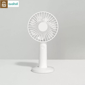 New Qualitell Handheld Fan Three wind speeds Portable Handheld USB rechargeable vertical dual-use Mini Fans