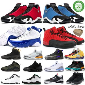 Nike Air Jordan Retro Toe New Gym Red 14 14s Hiper Royal Black Fusão Varsity Red Suede Retro Homens tênis de basquete Last Shot Trovão DMP Sneakers