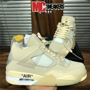 Nuovo Top White Kaws qualità Sail Uomini Jumpman 4 4s scarpe da basket Travis Scotts Cactus Jack Raffreddare Trainer Grey Donne Formato dei pattini 36-46