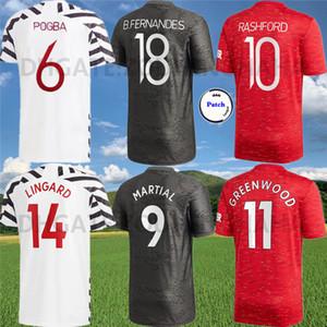 MAN UTD SANCHO Pogba Fußballjerseys 2020 21 B.FERNANDES Vereinigten KAMPF MATIC Rashford WALD-WAN-BISSAKA Fußballhemd