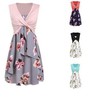 Womens Designer Dresses Summer Printed Dress Ladys Vest Strap Two-piece Dresses Womens Vest + Suspender Dress Casual Skirt Top Quality